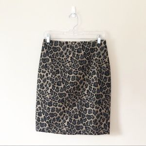 Ann Taylor Leopard Pencil Skirt